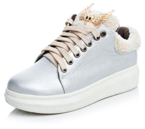 Warm Comfortable Winter Casual Shoes - SILVER EU 41