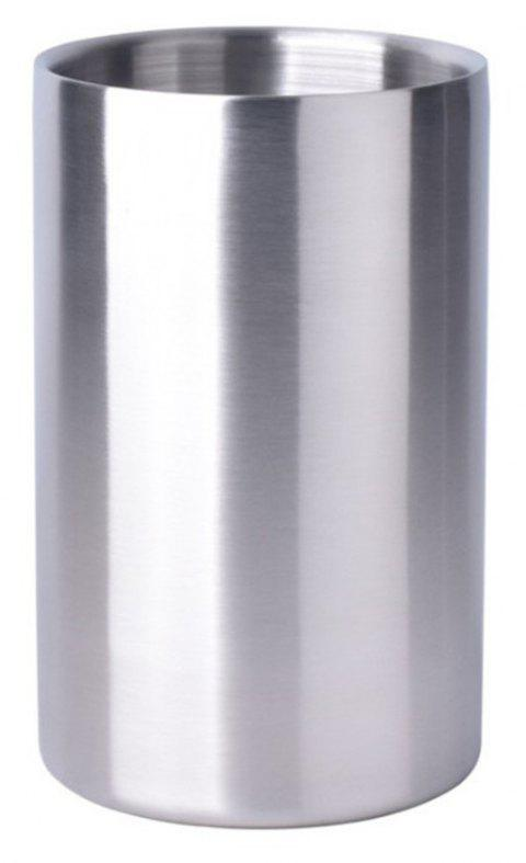 Large 1.6L Insulated Double Walled Stainless Steel Ice Bucket - SILVER