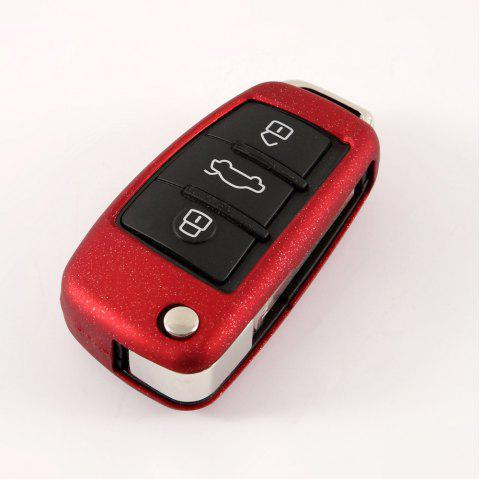 Car Key Case Soft TPU Protective Shell Holder Bag C Design For AUDI - RED WINE