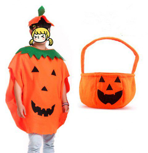 Halloween Pumpkin Costume for Kids Cosplay Party Clothes - ORANGE 1 SET