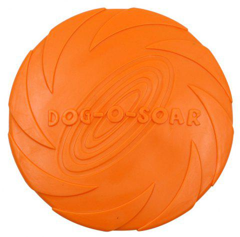 Training Dog Supplies Bite-Resistant Floating Water TPR Rubber Frisbee Toy - ORANGE S