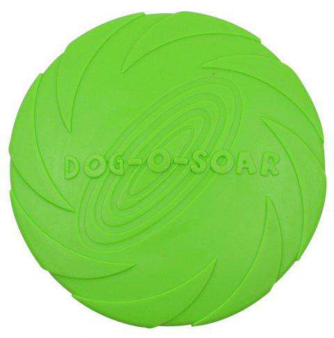 Training Dog Supplies Bite-Resistant Floating Water TPR Rubber Frisbee Toy - GREEN L