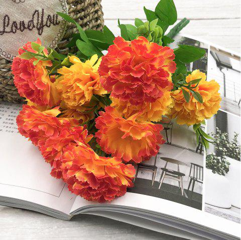 Carnation Home Decoration Artificial Flower Bouquet - multicolor