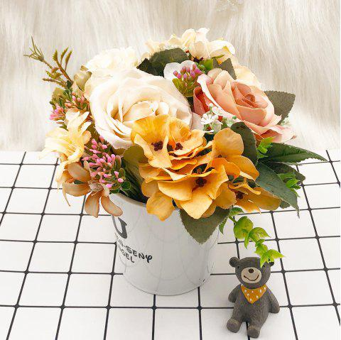 Potted Ornaments Home Decoration Artificial Flowers - multicolor