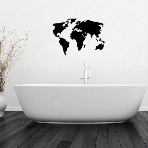 Creative Decorative World Map Wall Stickers - BLACK