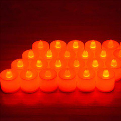24PCS  Simulation Led Electronic Candle Birthday Courtship Wedding Candle Light - RED RED LIGHT