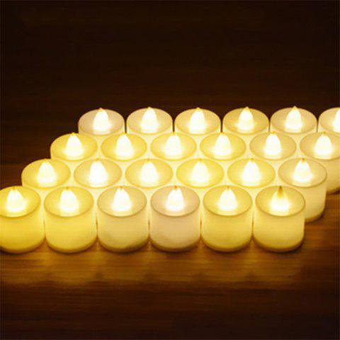 24PCS  Simulation Led Electronic Candle Birthday Courtship Wedding Candle Light - YELLOW YELLOW LIGHT