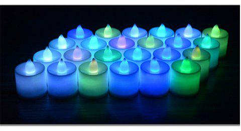 24PCS  Simulation Led Electronic Candle Birthday Courtship Wedding Candle Light - multicolor COLORFUL LIGHTS