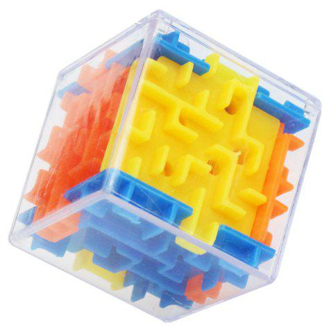 Children Puzzle Early Learning Toys 3D Maze Marble  Cube Holiday Gifts - multicolor