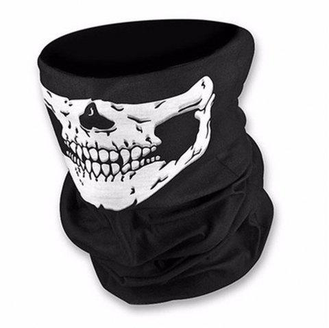 Halloween Mask Terrorist Skull Jaw Mask Party Props - BLACK
