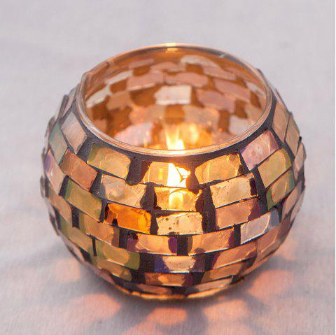 Handmade Mosaic Candle Holder for Wedding / Dinner / Party - multicolor A MEDIUM