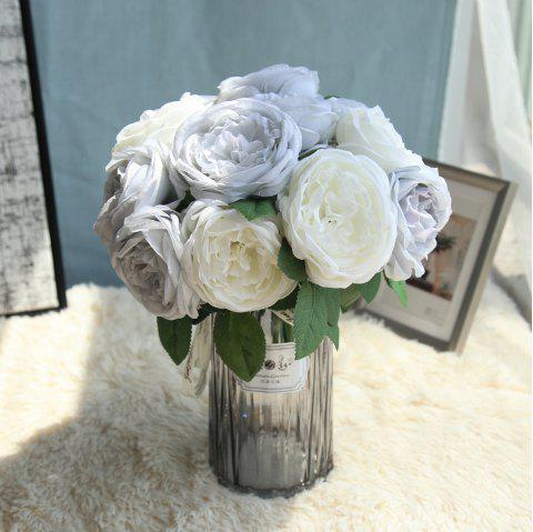 1 Branch Bridal Bouquet Sweet Rosa Home Decor Artificial Flower - POWDER BLUE M