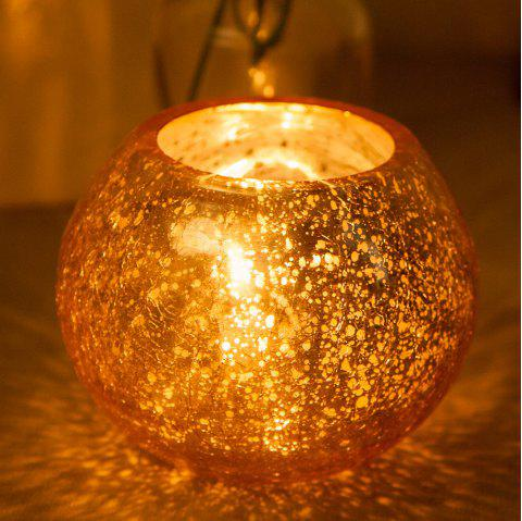 Creative Carved Glass Candle Holder Wedding Home Table Decorations - GOLD M
