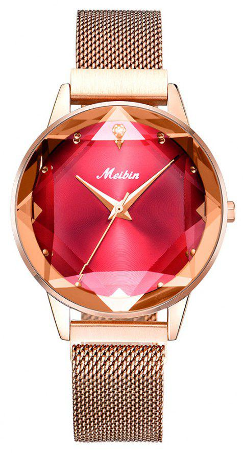 MEIBI Magnet Casual Fashion Business Women's Watch - ROSE RED