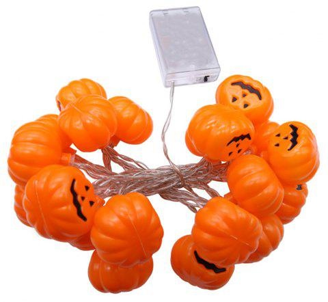 Halloween Party Are Decorated With Pumpkin LED Light String - PUMPKIN ORANGE 250*4.5*4.5CM