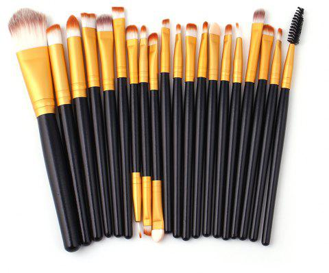 High Quality 20 PCS Makeup Brush Set Wood Handle - multicolor A