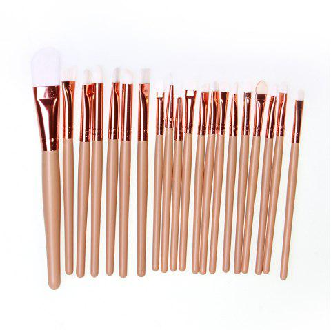 20 PCS Makeup Brush Set Wood Handle - BLANCHED ALMOND