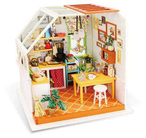 Robotime DIY Hand-Assembled Creative Art Dollhouse Jason Kitchen - WHITE SINGLE