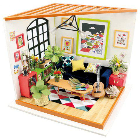 Robotime DIY House Hand-Assembled Creative Dollhouse Kit-Locus Sitting Room - WHITE SINGLE