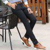 Men Clothing Autumn Business Casual Pants Micro Style Trousers - BLACK 30