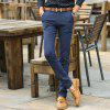 Men Clothing Autumn Business Casual Pants Micro Style Trousers - BLUE 30