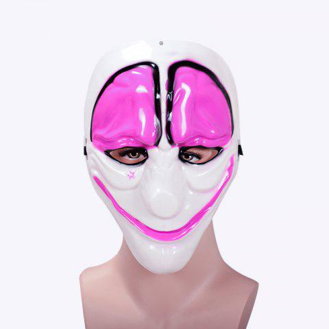Masquerade Party Clowns Effrayant Masque Halloween Horrible - Rose Gâteau 24*20CM