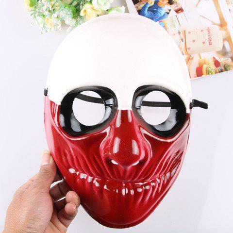 Masquerade Party Scary Clowns Mask Halloween Horrible - RED 24*20CM