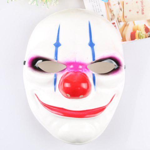 Masquerade Party Clowns Effrayant Masque Halloween Horrible - Blanc 24*20CM