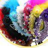 Lace Feather Fancy Dress Ball Mask Girl Half Face Ball Head - NEON PINK 22 X 23CM