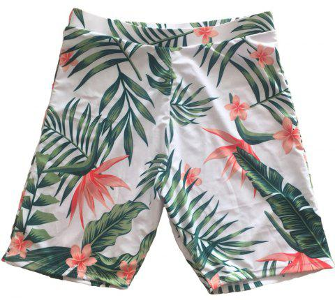 SleeWlM Printing Parent-Child Outfit Family Pack Beach Men Swimming Trunks - multicolor A L
