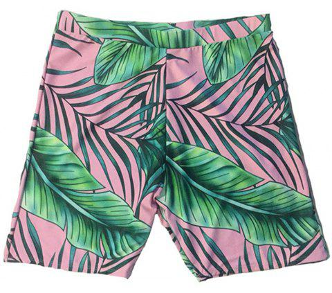 SleeWlM Printing Parent-Child Outfit Family Pack Beach Men Swimming Trunks - multicolor B L