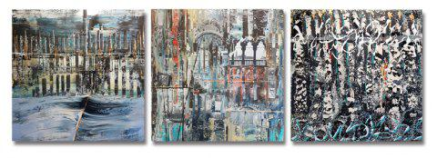 DYC 3PCS Abstrait Paysage Motif Impression Art - multicolor