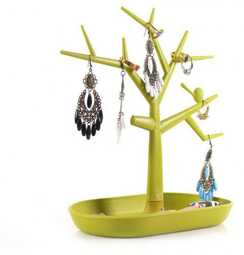 Jewelry Necklace Ring Earring Tree Stand Display Organizer Holder Rack Avocado Green