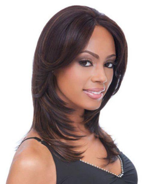 Central Parting Hair Slim Face Gradient Ramp Wig - multicolor C