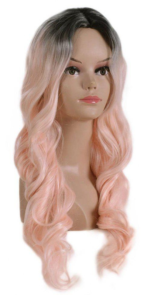 Central Parting Hair Style Gradient Ramp Wig - ROSE