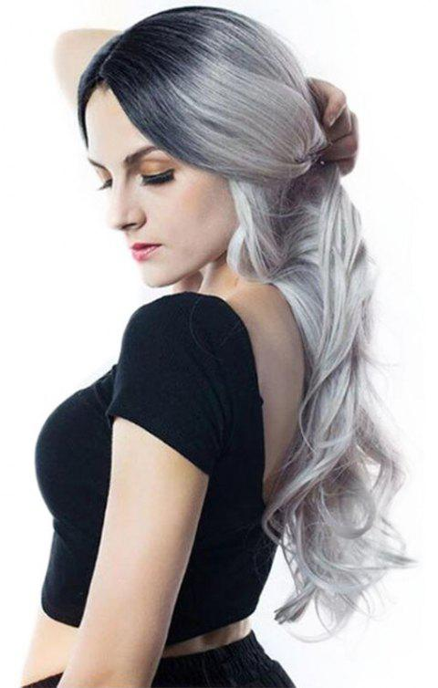Big Wave Gradient Ramp Long Wig - GRAY CLOUD