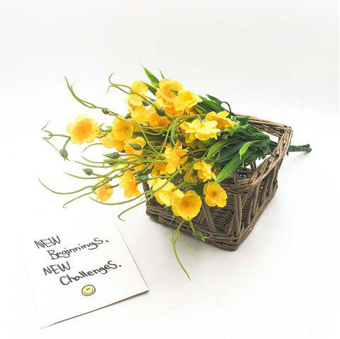 Yellow Orchid Home Decoration Branch of Artificial Flowers - SUN YELLOW