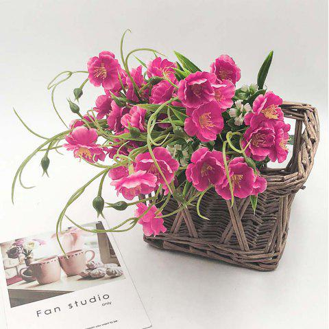 Rose Red Orchid Home Decoration Branch of Artificial Flowers - ROSE RED