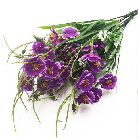 Purple Orchid Home Decoration Branch of Artificial Flowers - PURPLE