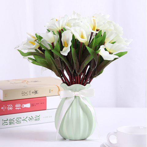 Calla Lily Silk Fashion Home Living Room Decoration Artificial Flower - WHITE