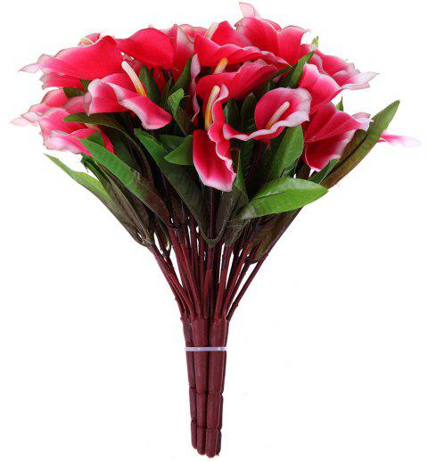 Calla Lily Lavender Home Decoration Branch of Artificial Flowers - RED
