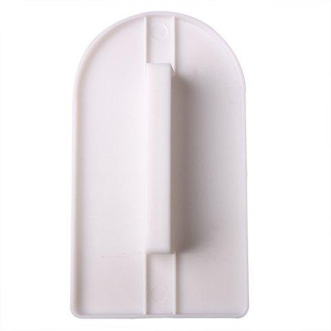 Plastic Cake Smoother Polisher Tool - WHITE