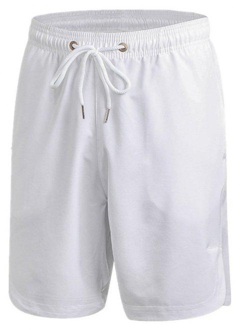 Men's Sports Fitness Running Training Loose Casual Quick-drying Shorts - WHITE L