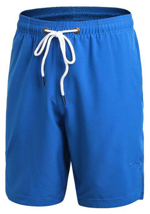 Men's Sports Fitness Running Training Loose Casual Quick-drying Shorts - BLUE M