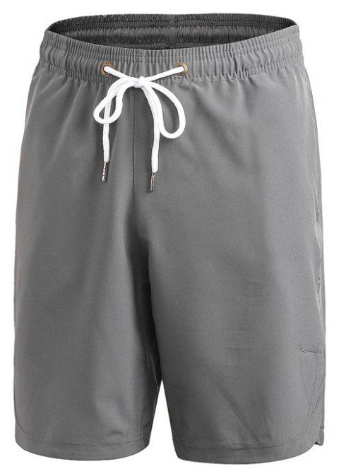 Men's Sports Fitness Running Training Loose Casual Quick-drying Shorts - GRAY L