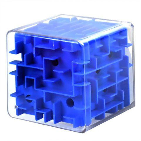 3D Beads Solid Maze Marbles Decompression  Cube Toys - OCEAN BLUE