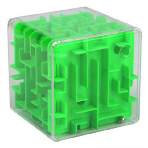 Cube de décompression 3D de billes solides de labyrinthe de billes - Vert