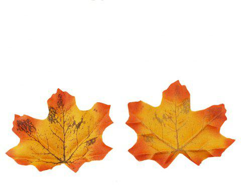 100 pièces 8CM Home Decor Simulé Feuilles D'érable Photo Prop - multicolor A 8*7*3CM