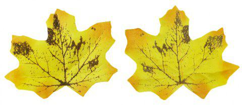 100 pièces 8CM Home Decor Simulé Feuilles D'érable Photo Prop - multicolor D 8*7*3CM