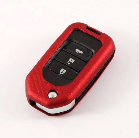 Car Key Protection Shell TPU Metallic Car  Case  B Design For HONDA - RED WINE